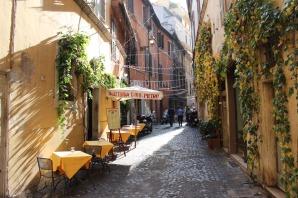 Típica callejuela de Roma